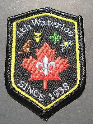 Boy Scouts Canada 4Th Waterloo Ontario Since 1938 Cubs Embroidered Patch
