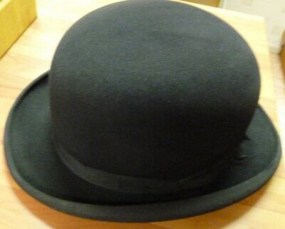 Vintage Bowler Hat 1958 by Scott London Size 6 7/8