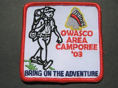 Boy Scouts Owasco Area Camporee 2003 Bring On The Adventure Embroidered Patch