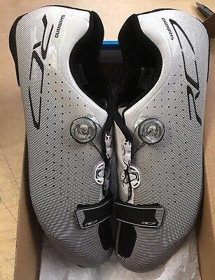 Shimano SH-RC7 Road Carbon Cycling Shoes White 47 WIDE