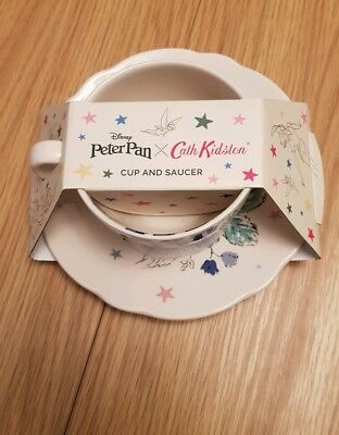 Peter Pan x Cath Kidston Ceramic Cup And Saucer Tinkerbell Disney New