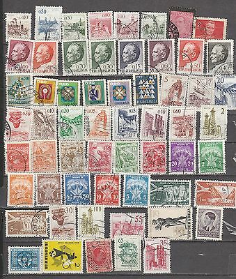 Yugoslavia  Mix , 55  Stamps, All Different, Used, Lot A