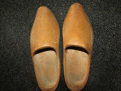 Traditional  Wooden Clogs, Size 8/9