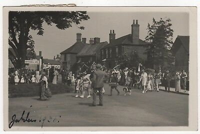 Real Photo Postcard Of Jubilee 1935  Celebrations Posted Tattershall Lincs