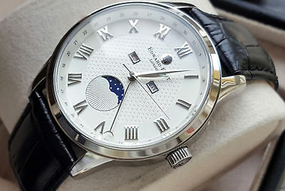 Orologio Moonphase Day Date Month Edward East Movement Miyota 6P80 NUOVO €.570