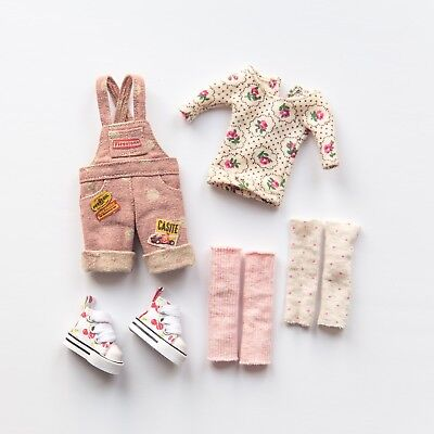 Blythe overalls dungaree set by Sugarbabylove + cherry converse boots