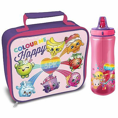 Shopkins Rainbow Celebration Lunch Bag and Europa Drink Bottle *BRAND NEW*