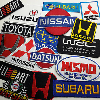 JAPANESE CAR BRAND PATCHES - Vehicle Embroidered Iron-On Patch Shop - NEW
