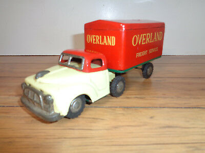 Overland Freight Service Tin Friction Tractor / Trailer - Japan