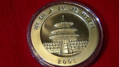 2001 Silver Chinese Panda Uncirculated in OGP