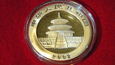 2002 Silver Chinese Panda Uncirculated in OGP