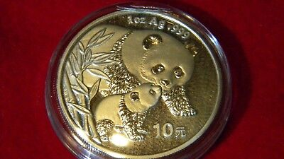2004 Silver Chinese Panda Uncirculated in OGP