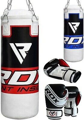 RDX Kids Punch Bag Filled Set Junior Boxing MMA Youth Gloves Punching Mitts 2FT