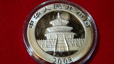 2008 Silver Chinese Panda Uncirculated in OGP