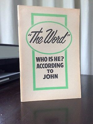 """Watchtower: """"The Word"""", Who is he?   -  1962 - Booklet 64 p.p."""
