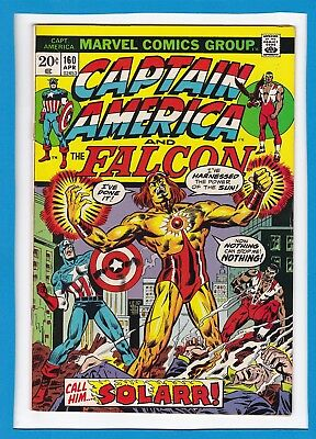 "Captain America & The Falcon #160_April 1973_Very Good+_""enter: Solarr""!"