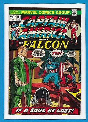 "Captain America & The Falcon #161_May 1973_Vf Minus_""prisoner Of Doctor Faustus"""