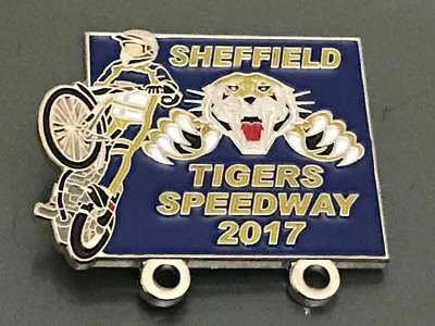 Sheffield Tigers---2017---Speedway Badge---Silver Metal