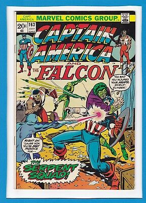 "Captain America & The Falcon #163_July 1973_Fine+_""the Serpent Squad""!"
