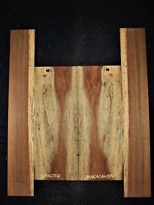 Guitar Luthier Tonewood MACACAUBA ORANGE AGATE Acoustic backs sides set