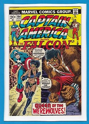 "Captain America & The Falcon #164_August 1973_Fine+_""queen Of The Werewolves""!"