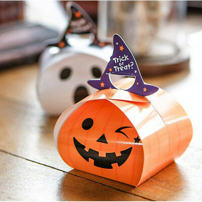 5Pcs MINI Paper Bag Gift Bag Candy Box New Style Halloween Party Supplies Orange