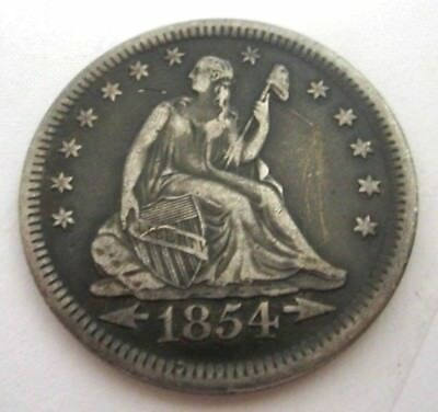 1854 Liberty Seated Quarter. Arrows.
