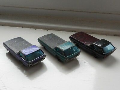 Hot Wheels Redline job lot x3 Dodge Deora, Hong Kong, play worn spares or repair