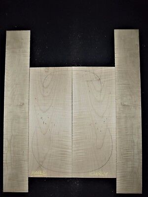 Guitar Luthier Tonewood FIGURED CURLY MAPLE Acoustic backs sides SET