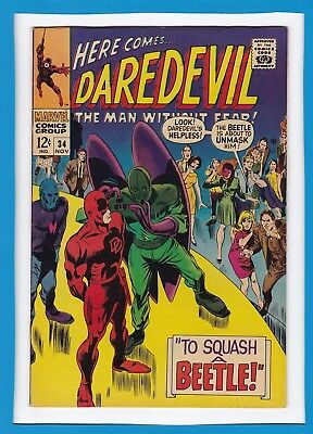 "Daredevil #34_November 1967_Very Fine Minus_""to Squash A Beetle""_Silver Age!"