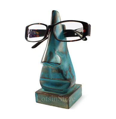 Glasses holder wooden glasses stand nose sunglasses holder case BLUE