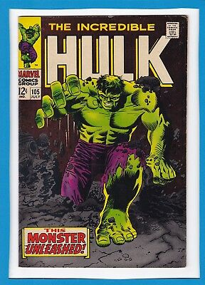 "Incredible Hulk #105_July 1968_Very Fine_""this Monster Unleashed""_Silver Age!"