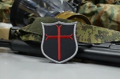 Red Crusader Cross, Knights Templar,Tactical morale military patch