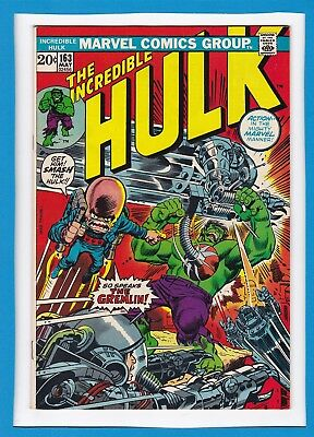 "Incredible Hulk #163_May 1973_Very Fine+_""so Speaks The Gremlin""_Bronze Age!"