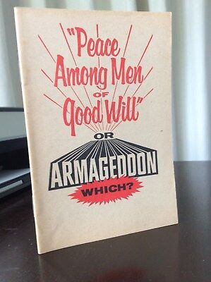 Watchtower: Peace among men of good Will -  1964 - Booklet 32 p.p.