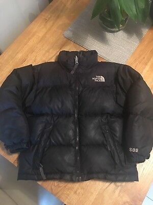 **North Face 600 Down Filled Nuptse Jacket In black - Size XS**