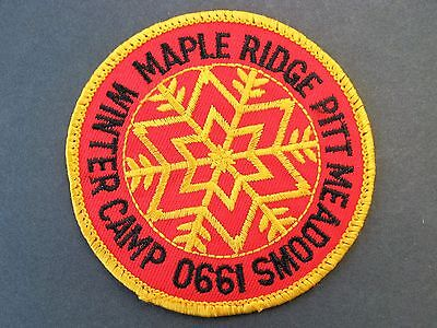 Boy Scouts Canada 1990 Winter Camp Maple Ridge Pitt Meadows Embroidered  Patch