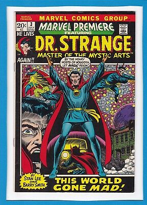 Marvel Premiere #3_July 1972_Very Fine_Doctor Strange_Barry Smith_Bronze Age!