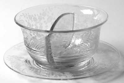 Cambridge DIANE CLEAR (STEM 3122) Twin Salad Dressing Bowl & Underplate 5331674