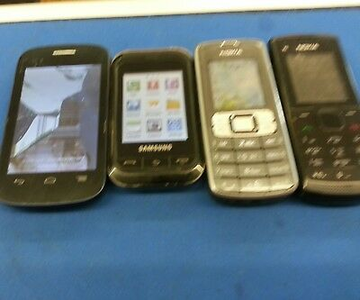4×Job Lot Mobile Phones For Salr