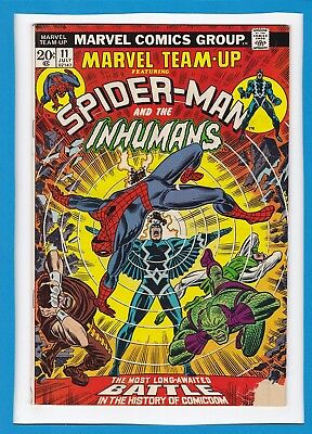 Marvel Team-Up #11_July 1973_G/vg_Spider-Man_The Inhumans_Black Bolt_Bronze Age!