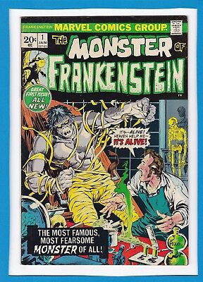 Monster Of Frankenstein #1_Jan 1973_Vf+_Great All New First Issue_Bronze Age!
