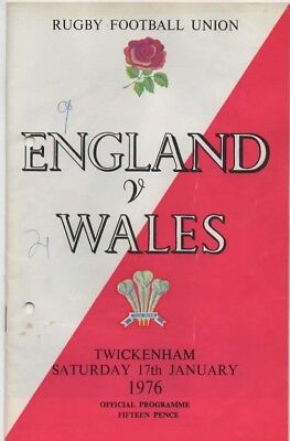 1976-England V Wales-17/1/76-Five Nations Grand Slam Winners Rugby Programme