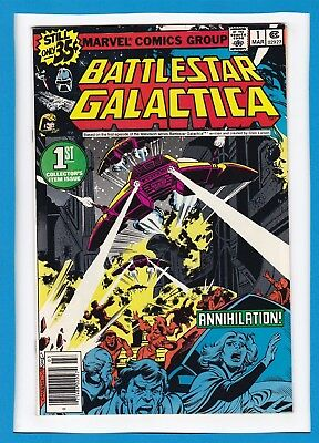 BATTLESTAR GALACTICA #1_MARCH 1979_NEAR MINT MINUS_1st COLLECTOR'S ITEM ISSUE!