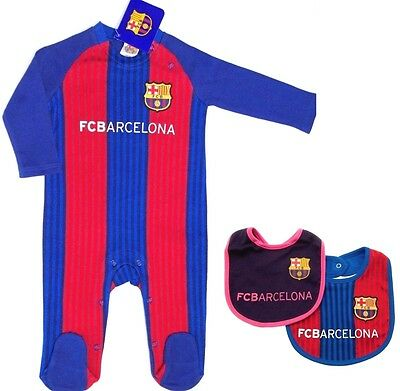 Fc Barcelona Fc 2017 Babies Pram Play Sleep Suit Baby Grow Bodysuit Fcb Barca