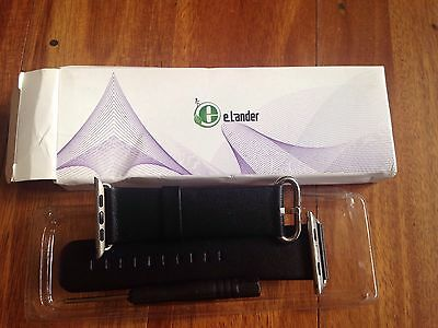 eLander Apple Watch Leather Band Strap sz 42mm Navy Blue Free & fast shipping