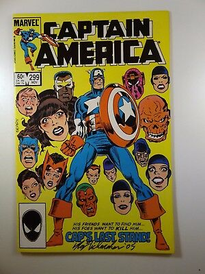 """Captain America #299 """"Cap's Last Stand!"""" VF-NM Condition!! Signed R. Richardson!"""