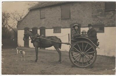 Real Photo Postcard Of Pony & Trap  , Lincolnshire