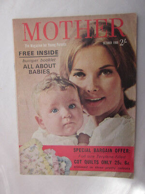 Vintage Mother Magazine October 1966 Collectable