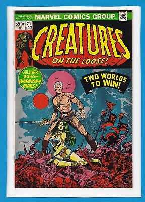 Creatures On The Loose #21_Jan 1973_F/vf_Gullivar Jones_Jim Steranko Cover!